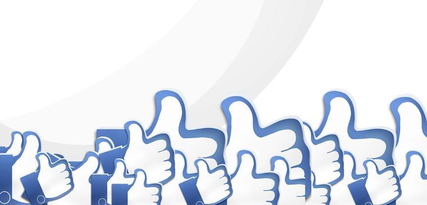 símbolos de curtir do facebook