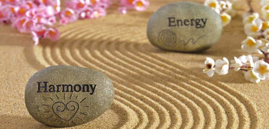 pedras com as palavras harmonia