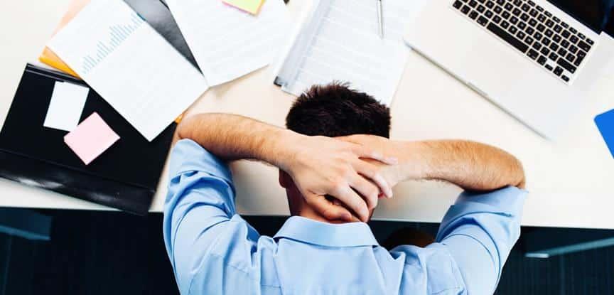 trabalhador frustrado