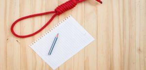corda, papel e lápis