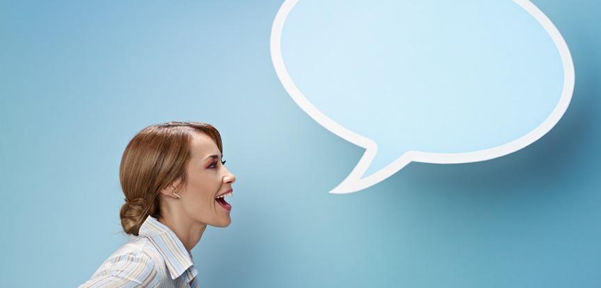 mulher falando