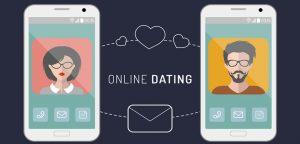 celular com desenho de homem e mulher