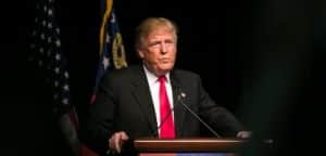 O candidato presidencial republicano Donald J Trump