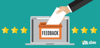 Caixa para receber críticas e feedbacks