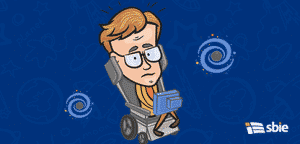 Retrato de Stephen Hawking