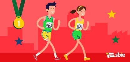 Maratonistas de corrida de estrada– ilustração de bancos de imagens