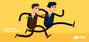 Competição de empresários executar