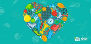 Amor ao esporte– ilustração de bancos de imagens
