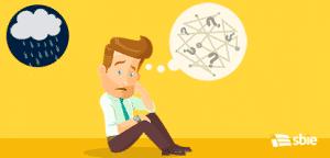 Empregado confuso. Ilustração em vetor plana– ilustração de bancos de imagens