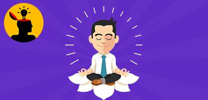 Homem de negócios fazendo ioga. Ilustração em vetor plana– ilustração de bancos de imagens
