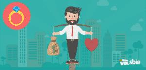 Equilíbrio de empresário entre trabalho e vida– ilustração de bancos de imagens