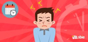 Os homens ficam frustrados com o stress– ilustração de bancos de imagens