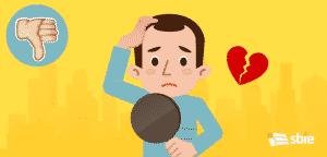 Problemas de queda de cabelo– ilustração de bancos de imagens