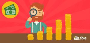 Crescimento do negócio em aspectos financeiros– ilustração de bancos de imagens