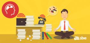 Relaxe no trabalho. Ilustração em vetor plana dos desenhos animados– ilustração de bancos de imagens
