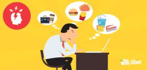 Empresário pensando– ilustração de bancos de imagens