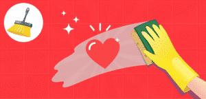 Fundo para serviço de limpeza– ilustração de bancos de imagens