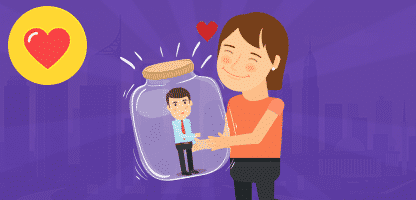 Casais no conjunto de amor– ilustração de bancos de imagens