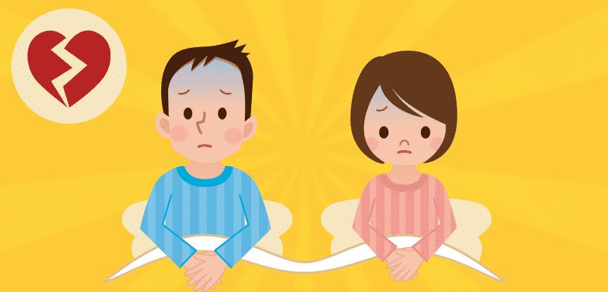 Casal com problemas– ilustração de bancos de imagens