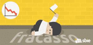 Empresário exausto, deitada no chão e rendição– ilustração de bancos de imagens
