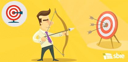 Empresário com arco e flecha. Ilustração em vetor plana– ilustração de bancos de imagens